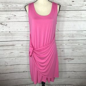 Style&Co Swing Dress Sleeveless Tie-Front Stretch